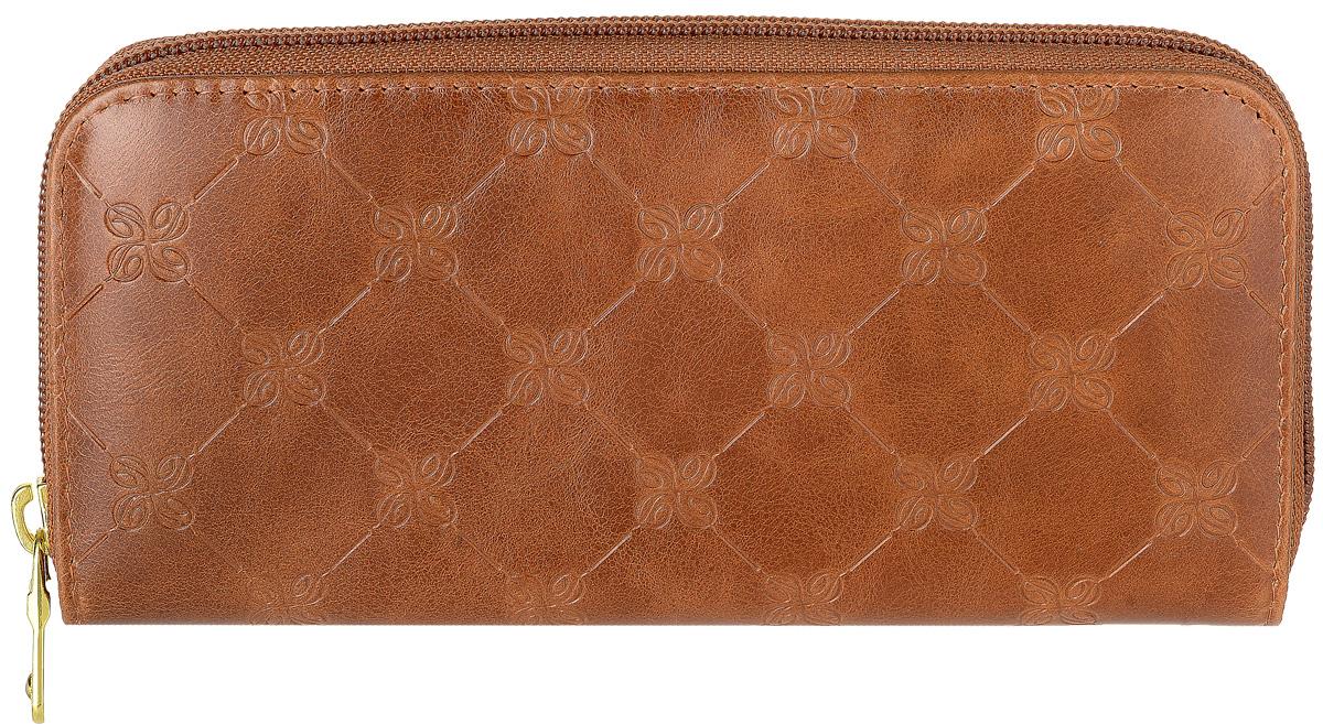 Портмоне женское Dimanche Louis Brun, цвет: коричневый. 601 ane brun sketches
