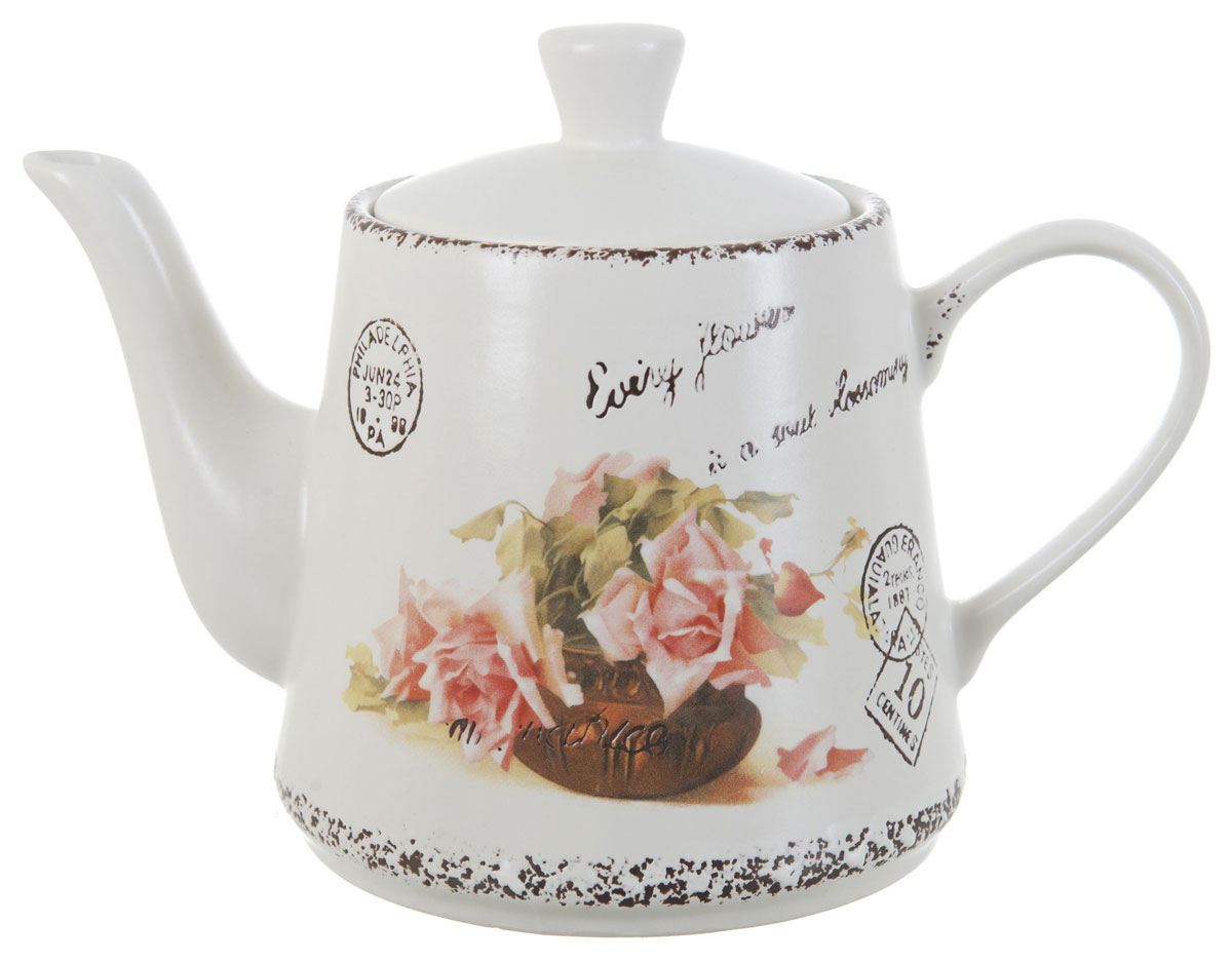 Чайник заварочный ENS Group Чайная роза, 1 л чайник заварочный ens персиковая роза 1 л