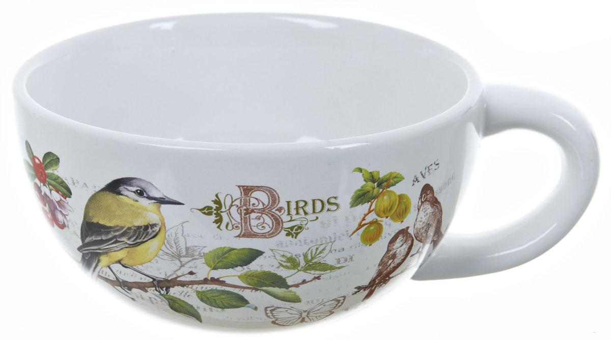 Кружка суповая ENS Group Birds, 500 млL2430744Кружка ENS Group Birds изготовлена из высококачественной керамики. Кружа предназначена для супов и жидких блюд. Изделие украшено изящным рисунком в виде птиц и ягод. Объем: 500 мл. Диаметр кружки (по верхнему краю): 13 см. Размер кружки (с учетом ручки): 17 х 13 х 6,5 см.