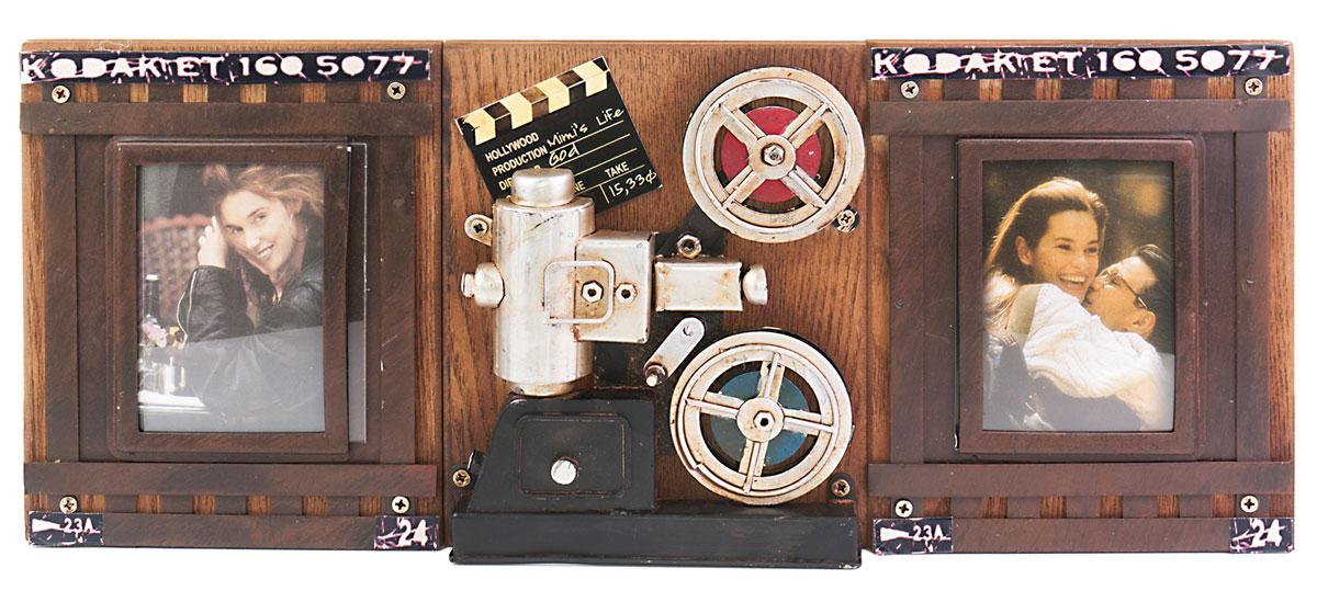 """Фоторамка двойная Platinum """"Кинопроектор """"Kodak"""", на 2 фото, 7 х 9 см. 1410F-251"""