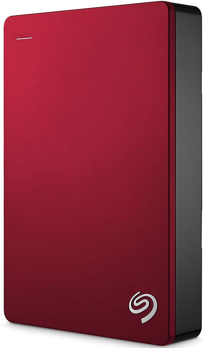 Портативный внешний жесткий диск Seagate HDD 5 TB Backup Plus Slim , 2.5, USB 3.0, красный портативный внешний жесткий диск seagate hdd 2 tb backup plus slim 2 5 usb 3 0 красный