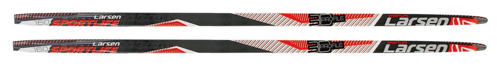 Лыжи беговые Larsen Sport Life Step, цвет: черный, красный, белый, рост 205 см наборы для творчества bondibon французское творчество досуг с буки стильный пенал