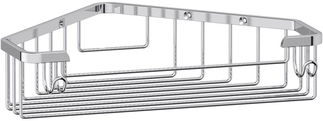 Полка-решетка для ванной FBS Ryna, угловая, цвет: хром, 23 х 17 5,2 см. RYN 005