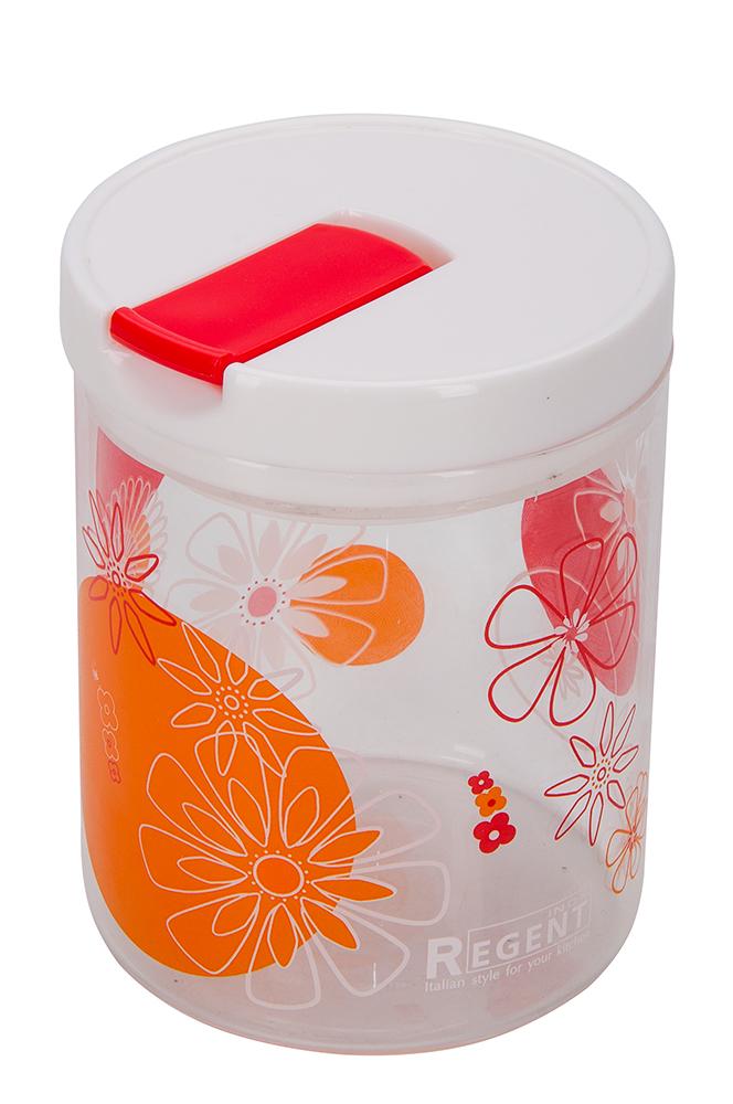 Банка для сыпучих продуктов Regent Inox Desco, 0,7 л банка для сыпучих продуктов regent inox desco 1 5 л