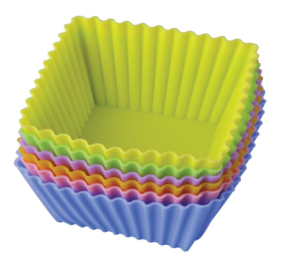 Набор форм для выпечки Regent Inox Тарталетки квадратные, 6 шт, 7 х 3,5 см набор форм для выпечки fidget go вкусняшка 7 х 2 5 см 6 шт