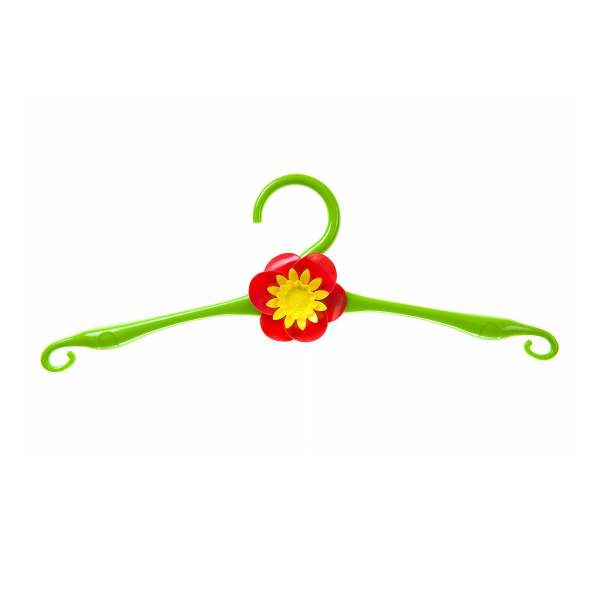 Вешалка HomeQueen, пластиковая, цвет: зеленый, длина 41 см вешалка крючок magic home двойной цвет оранжевый 43887