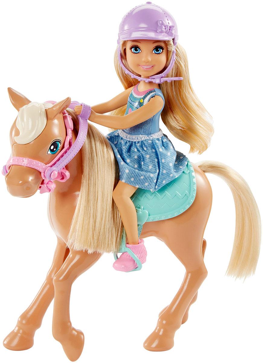 Barbie Игровой набор с мини-куклой Челси и пони DYL42 mattel barbie dyl42 барби кукла челси и пони
