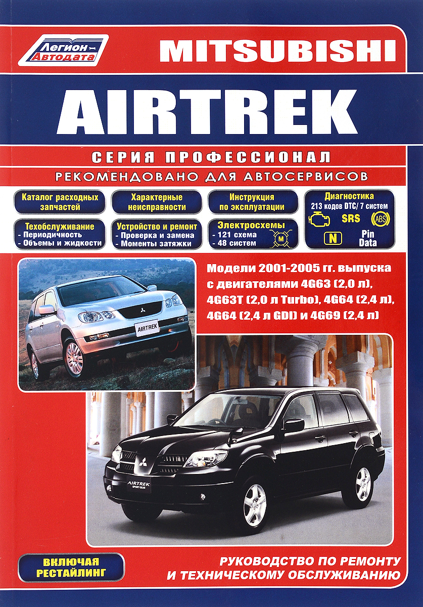 Mitsubishi Airtrek. Модели 2001-2005 гг. выпуска. Устройство, техническое обслуживание и ремонт mitsubishi airtrek модели 2001 2005 гг выпуска устройство техническое обслуживание и ремонт
