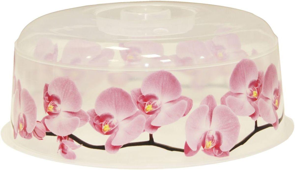 """Крышка для СВЧ Idea """"Деко. Орхидея"""", диаметр 24,5 см"""