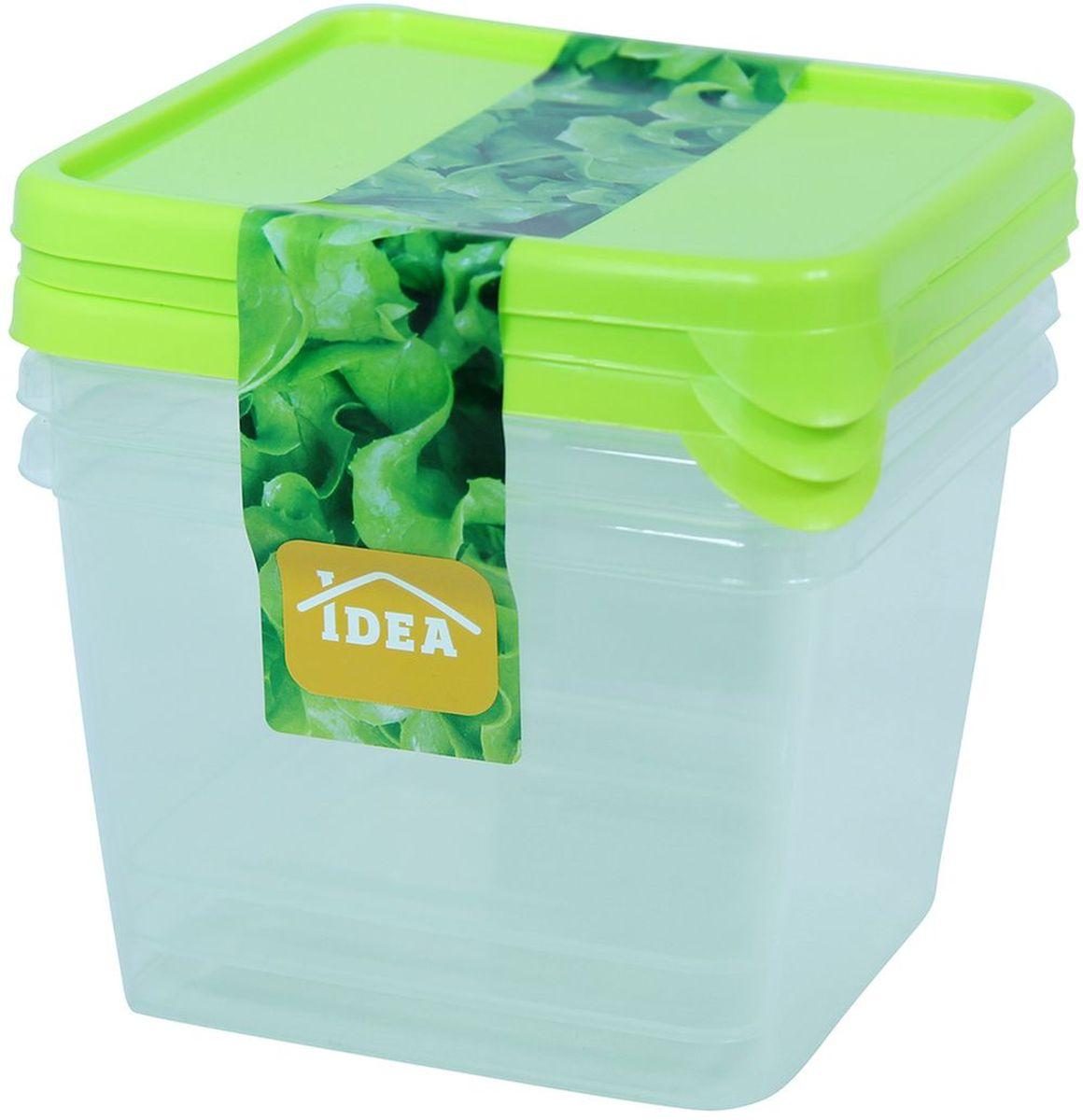 Набор контейнеров Idea, 750 мл, 3 шт. М 1444 набор контейнеров 3 шт comboez набор контейнеров 3 шт