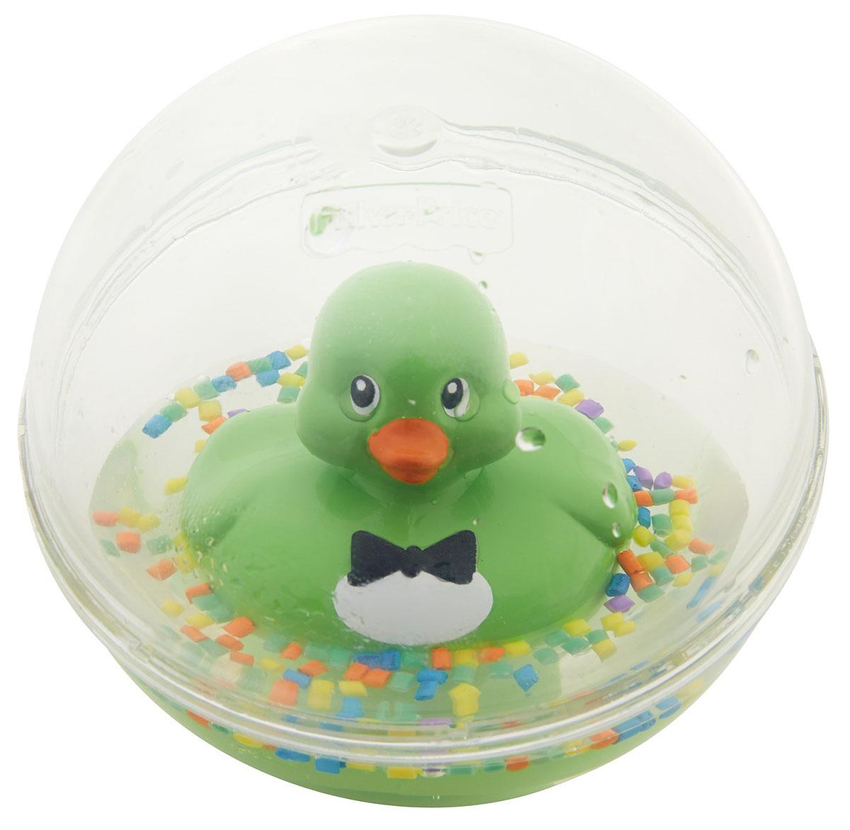 Fisher-Price Развивающая игрушка Уточка цвет зеленый цены