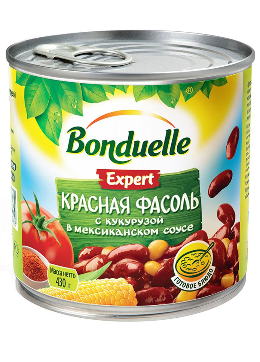 Bonduelle красная фасоль с кукурузой в мексиканском соусе, 430 г фасоль bonduelle на пару зеленая тонкая