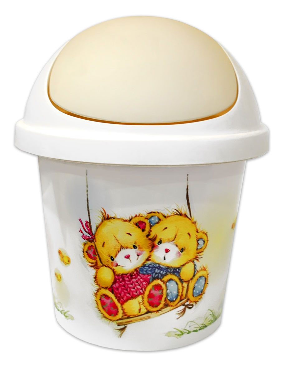 Little Angel Контейнер для мусора Bears 7 л