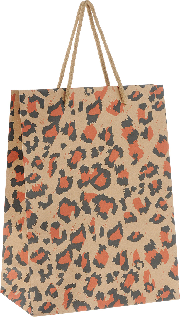 Пакет подарочный Феникс-Презент Леопард, 19 х 8 х 24,5 см пакет подарочный феникс презент дед мороз с елкой 17 8 х 22 9 х 9 8 см