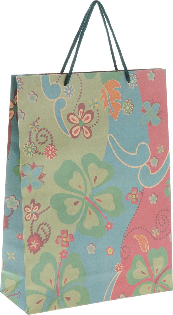 Пакет подарочный Феникс-Презент Клевер, 24 х 8 х 33 см пакет подарочный феникс презент каток 26 х 33 х 13 см