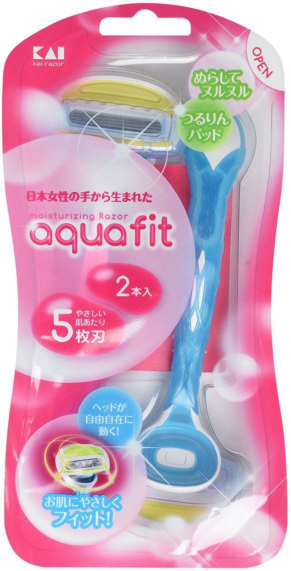 """Kai Бритвенный станок женский """"Aquafit"""", одноразовый, 5 лезвий"""