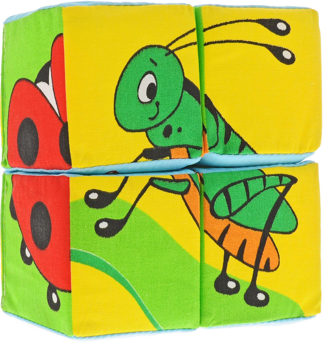 Мякиши Кубики Собери картинку Насекомые набор из 2 кубиков мякиши чей детеныш в кор 40наб