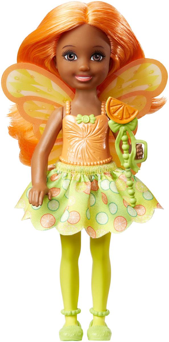 Barbie Мини-кукла Маленькая фея Челси цвет платья желтый салатовый