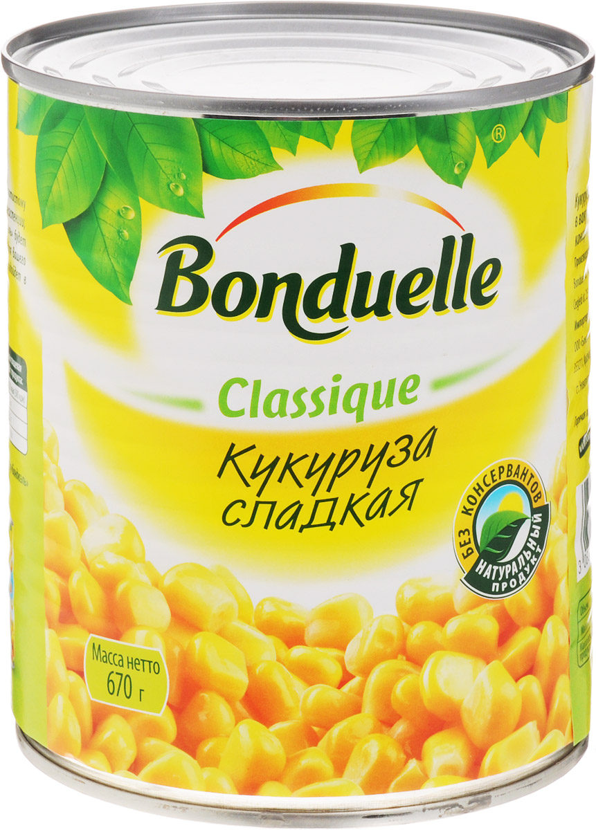 Bonduelle кукуруза сладкая, 670 г кукуруза bonduelle сладкая 340г