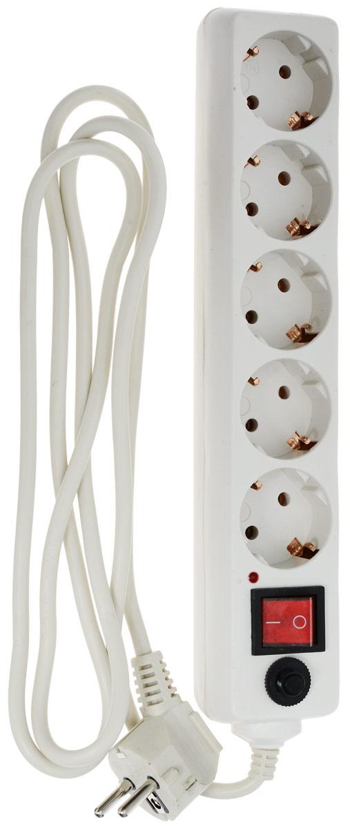 Buro 500SH-1.8, White сетевой фильтр (5 розеток) сетевой фильтр buro 500sh 1 8 w 1 8м 5 розеток белый