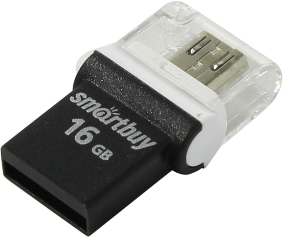 цены на SmartBuy Poko Series 16GB, Black OTG USB-накопитель  в интернет-магазинах