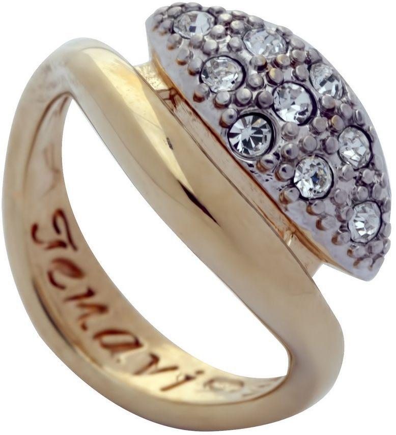 Кольцо Jenavi Озон. Ракин, цвет: золотой, белый. j958q000. Размер 18 кольцо женское jenavi линия судьбы вейя цвет золотой r406p090 размер 16