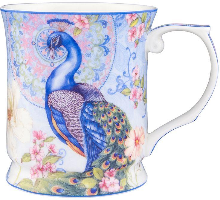 Кружка Elan Gallery Павлин в райском саду, 400 мл сахарница elan gallery павлин с крышкой цвет синий 400 мл