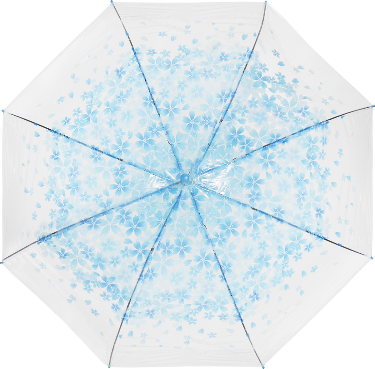 Зонт женский Эврика, цвет: голубой, прозрачный. 97504