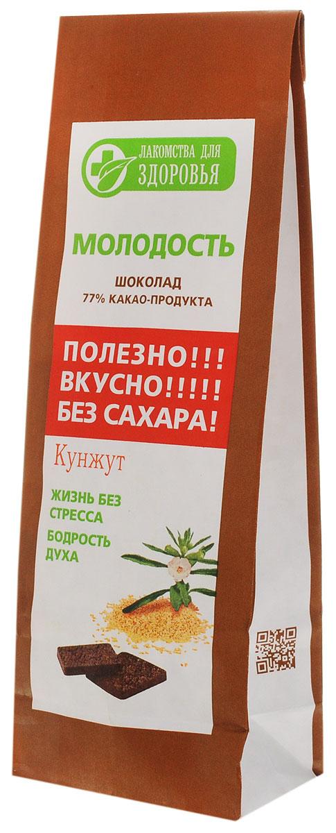 Лакомства для здоровья Шоколад горький с кунжутом, 100 г