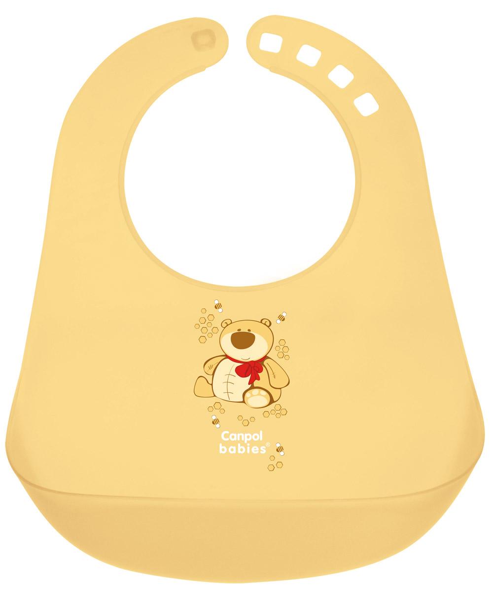 Canpol Babies Нагрудник пластиковый цвет желтый