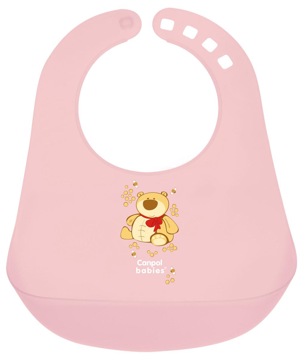 Canpol Babies Нагрудник пластиковый цвет розовый