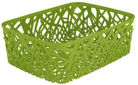 Корзина универсальная Curver Neo Colors, цвет: зеленый, 37,7 x 29 x 12,7 см корзина складная outwell folding basket цвет зеленый 50 x 29 x 25 см