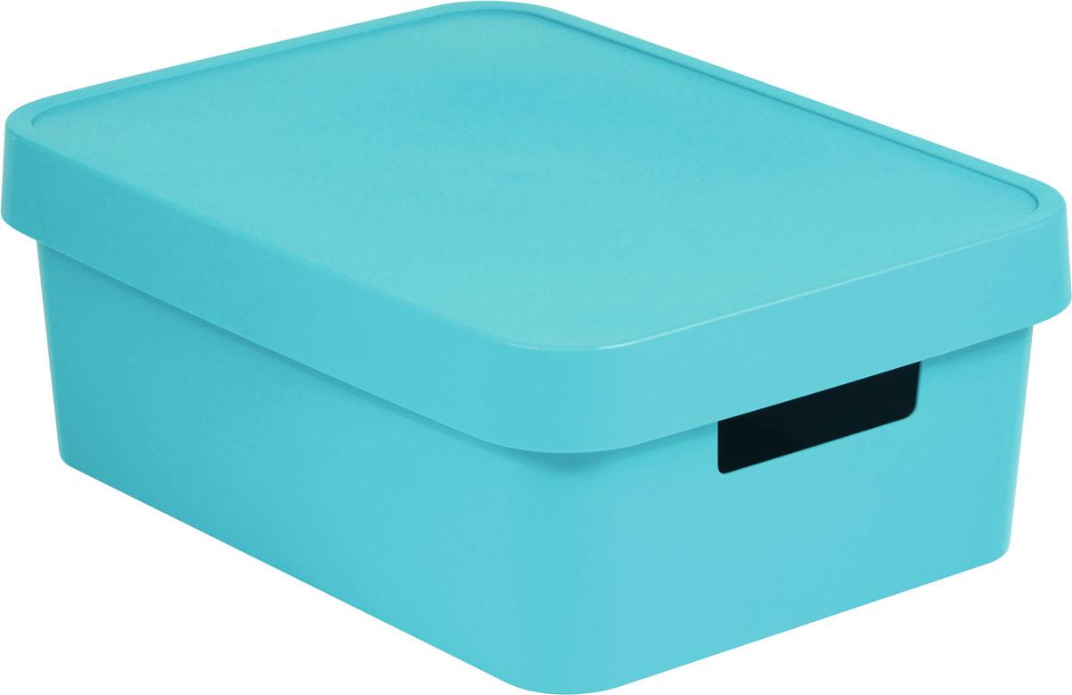 Коробка для хранения Curver Infinity, с крышкой, цвет: лазурный, 4,5 л цена