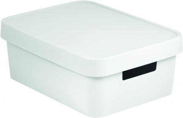 Коробка для хранения Curver Infinity, с крышкой, цвет: белый, 11 л цена