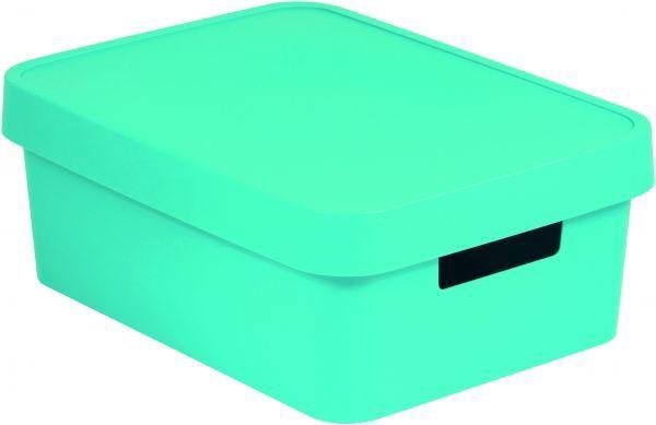 Коробка для хранения Curver Infinity, с крышкой, цвет: бирюзовый, 11 л цена