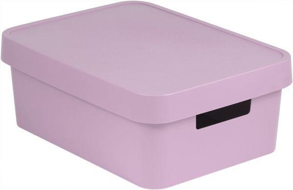 Коробка для хранения Curver Infinity, с крышкой, цвет: сиренево-розовый, 11 л цена
