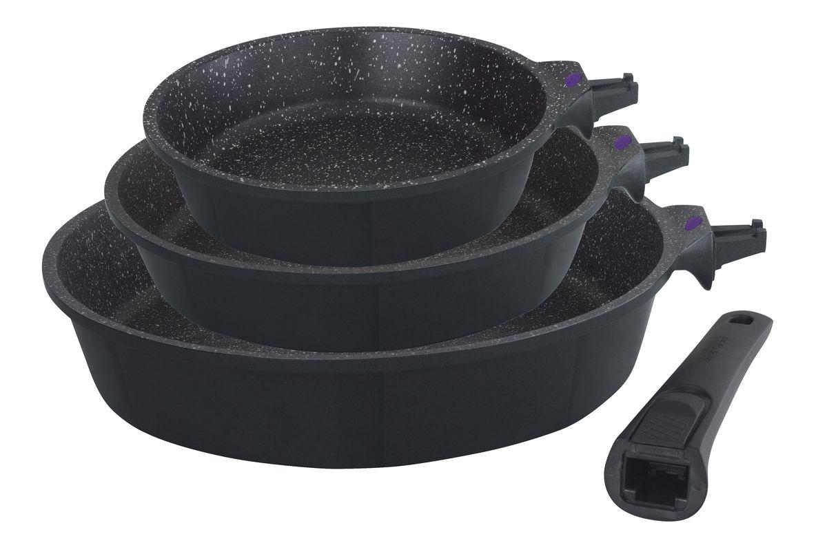 """Набор сковородок Gipfel """"Proofet"""", со съемной ручкой, с антипригарным покрытием, 3 шт"""