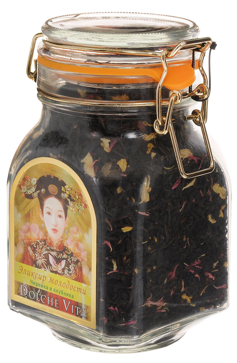 Dolche Vita Эликсир молодости элитный черный листовой чай, 160 г dolche vita аристократический элитный черный листовой чай 160 г