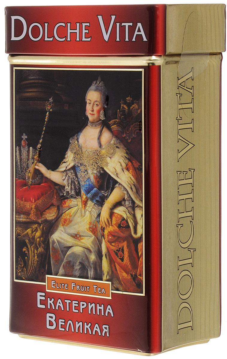 Dolche Vita Екатерина Великая подарочный черный листовой чай, 100 г dolche vita аристократический элитный черный листовой чай 160 г