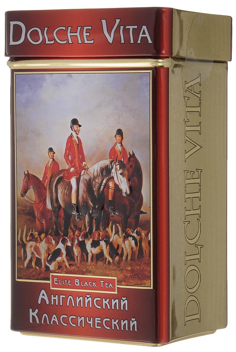 Dolche Vita Английский Классический подарочный черный листовой чай, 100 г dolche vita аристократический элитный черный листовой чай 160 г