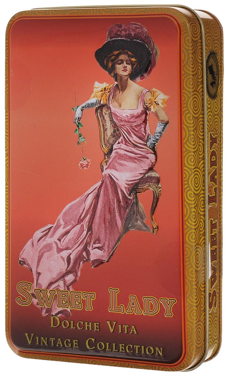 Dolche Vita Sweet Lady подарочный черный листовой чай, 60 г недорого