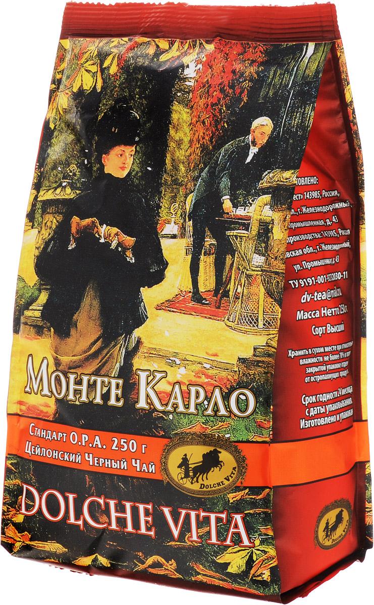 Dolche Vita Монте Карло черный листовой чай, 250 г dolche vita аристократический элитный черный листовой чай 160 г