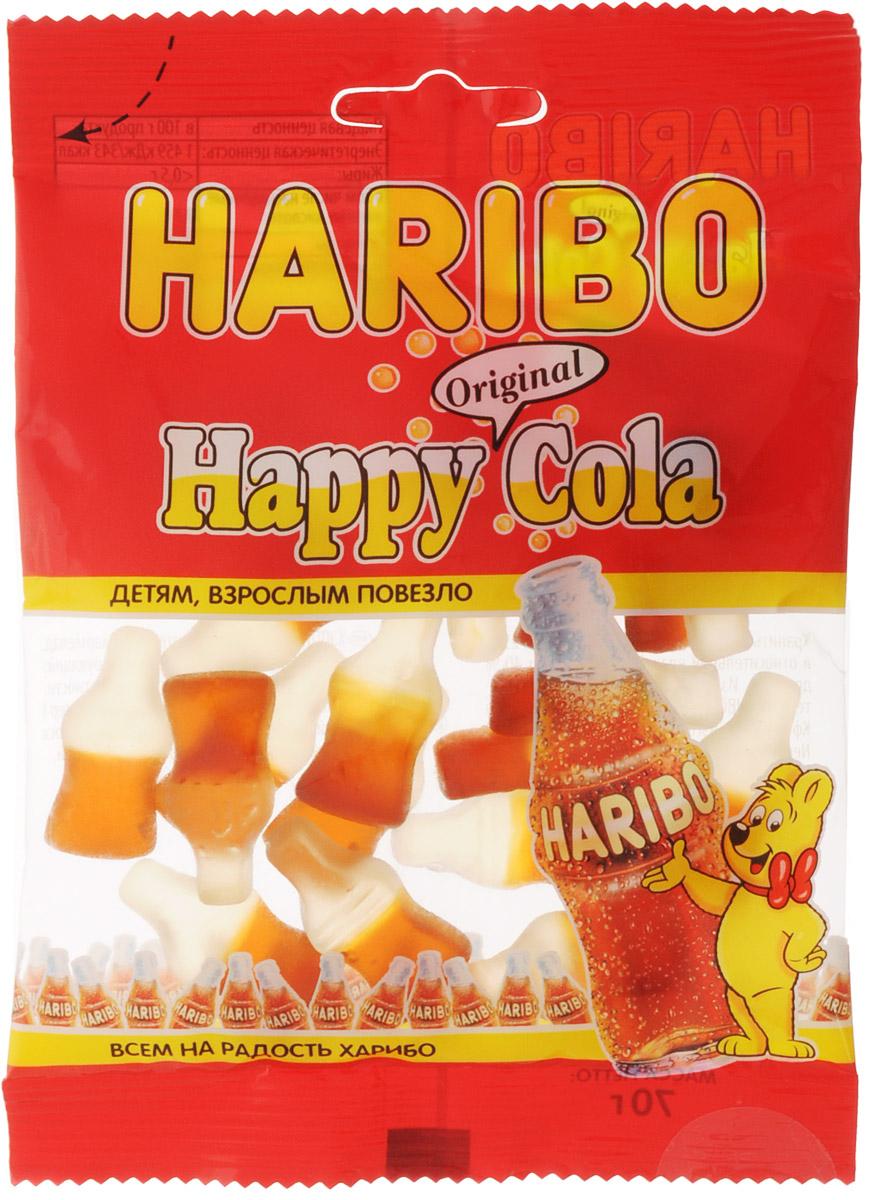 Haribo Happy Cola жевательный мармелад, 70 г жевательный мармелад haribo червячки 70г