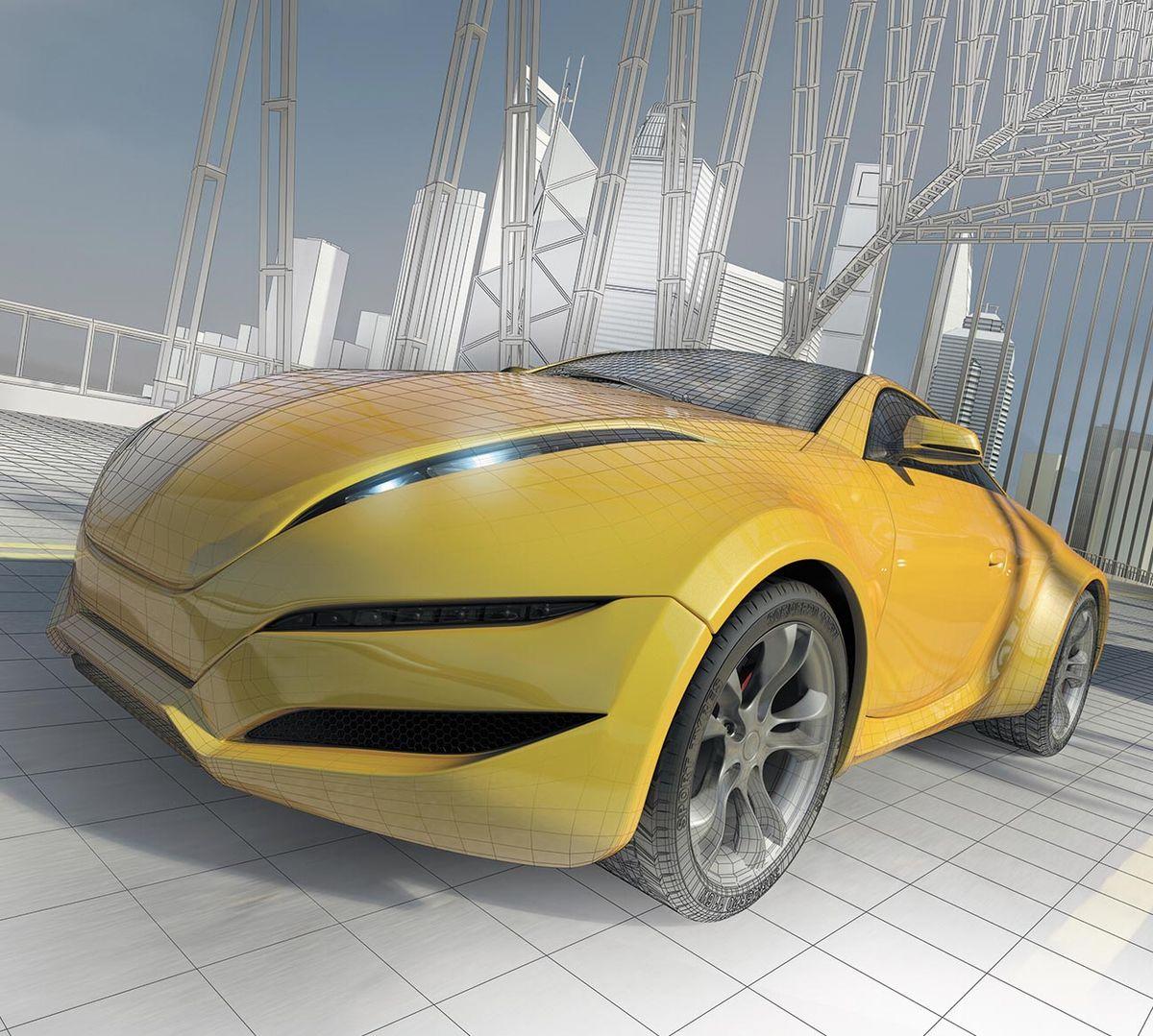 Фотообои Milan Скорость. Желтая машина, текстурные, 300 х 270 см. M 321 фотообои milan ракушка текстурные 100 х 270 см m 120