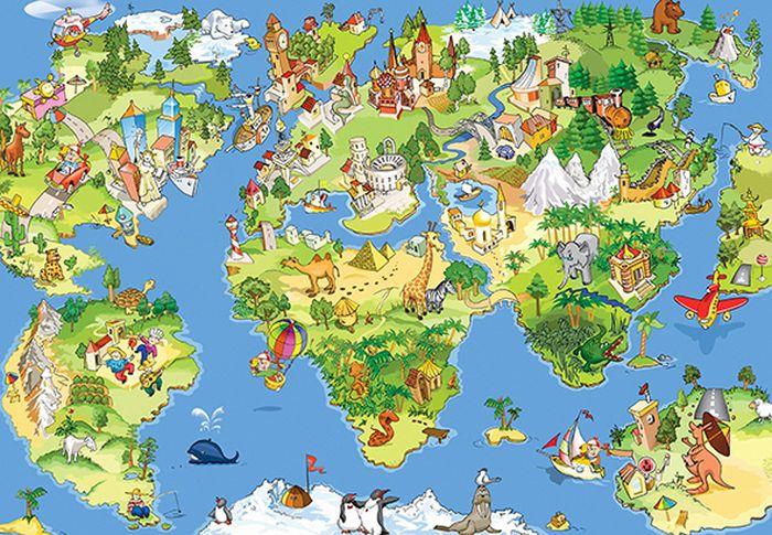 Фотообои Milan Детская карта, текстурные, 400 х 270 см. M 442 фотообои milan ракушка текстурные 100 х 270 см m 120