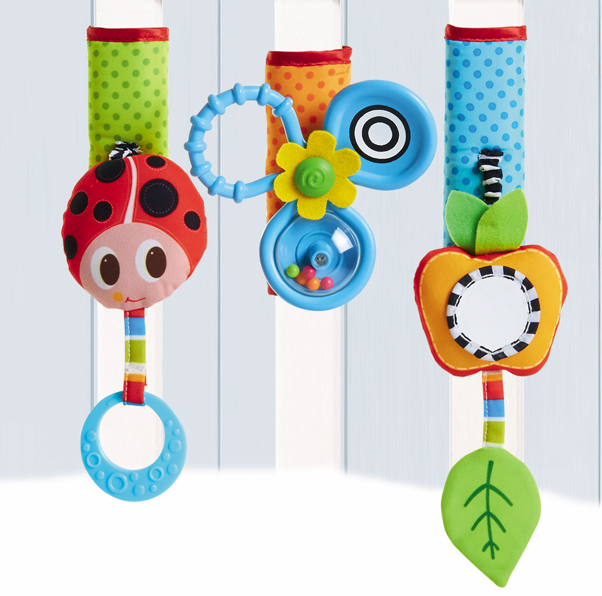 Tiny Love Развивающая игрушка Летняя поляна на липучке игрушка жираф tiny love