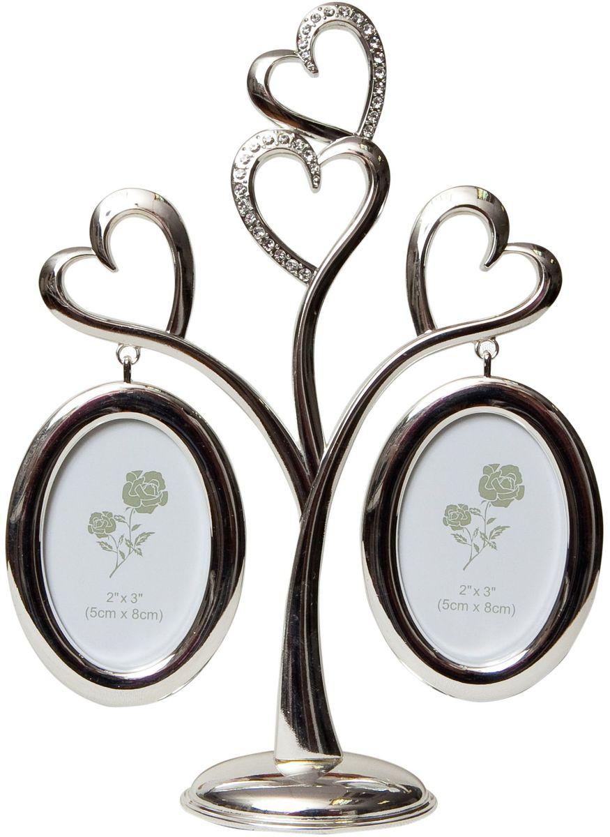 Фоторамка Platinum Дерево. Сердца, цвет: светло-серый, на 2 фото, 8 x 8 см. PF10019A фоторамка platinum дерево сердца цвет светло серый на 2 фото 8 x 8 см pf10019a
