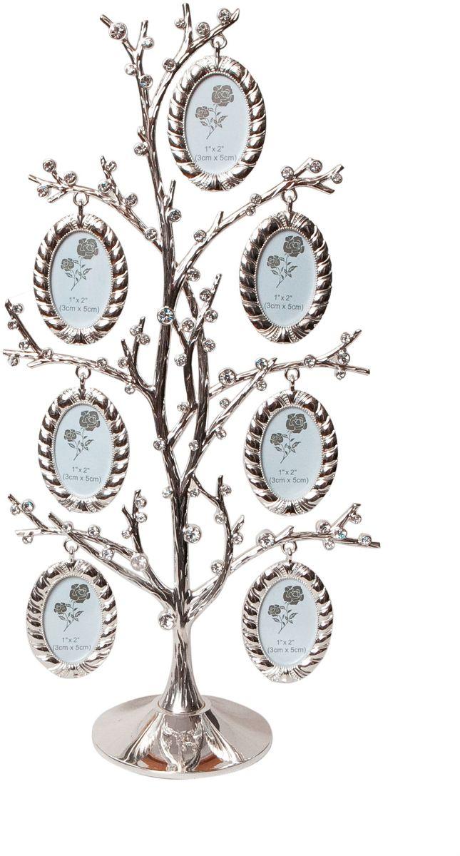 Фоторамка Platinum Дерево, цвет: светло-серый, на 7 фото, 3 x 5 см. PF10304 фоторамка platinum дерево сердца цвет светло серый на 2 фото 8 x 8 см pf10019a