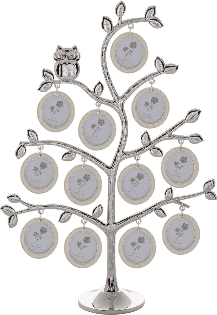 Фоторамка Platinum Дерево, цвет: светло-серый, на 12 фото, 4 x 5 см. PF10726 фоторамка platinum дерево сердца цвет светло серый на 2 фото 8 x 8 см pf10019a