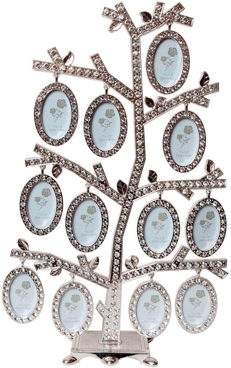 Фоторамка Platinum Дерево, цвет: светло-серый, на 12 фото, 4 x 5 см. PF9638 фоторамка platinum дерево сердца цвет светло серый на 2 фото 8 x 8 см pf10019a